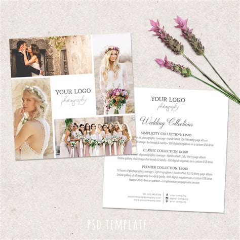 Wedding Announcement Prices by Wedding Photography Price List Template Marketing