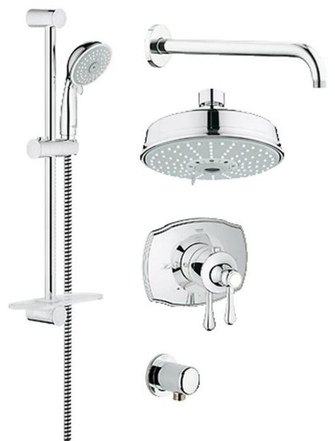 Bathtub Faucet Sets by Grohflex Thermostatic Valve Shower Trimset Tub And