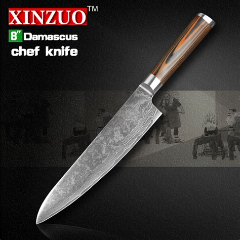 xinzuo 8 quot inches chef knife damascus kitchen knives high quality vg10 japanese steel chef knife