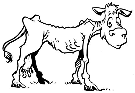 Skinny Cow Coloring Page | practical faith lean cows and laziness
