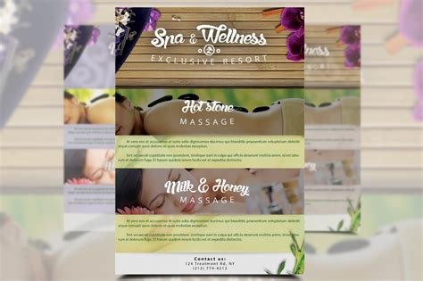 spa wellness flyer flyer templates creative market