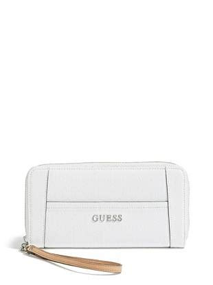 Guess Delaney Mini Palm delaney textured logo zip around