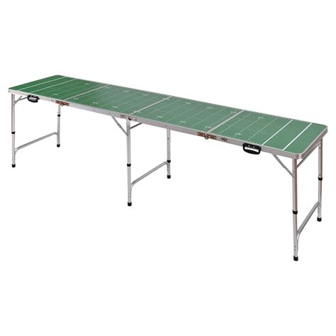 folding ping pong table ys 8ft aluminum portable folding beer ping pong table
