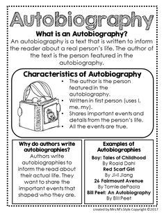 teaching difference between biography and autobiography autobiography vs biography here s a quick reference