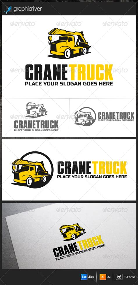 Dump Truck Logo Templates By by Crane Truck Logo Templates By T Famz Graphicriver