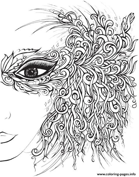 creative haven fanciful faces adults 4 coloring pages