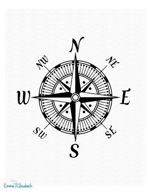 compass tattoo prints nautical art illustration vintage compass rose art by