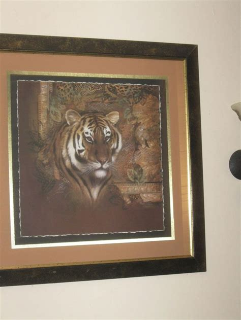 safari tiger picture home interior beautiful size 36x36