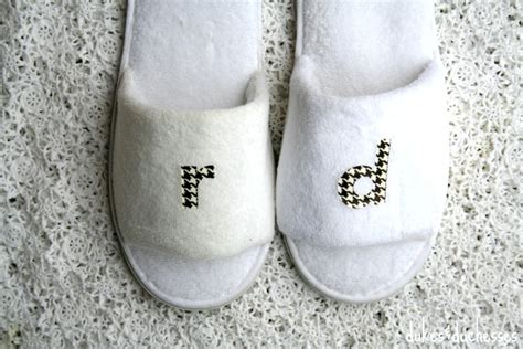 monogrammed bedroom slippers diy monogrammed slippers dukes and duchesses