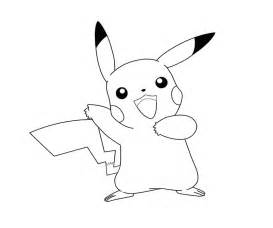 Pikachu 3 Coloring  Crafty Teenager sketch template