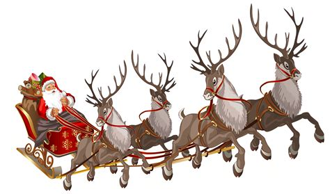 santa sleigh clipart transparent clipartxtras