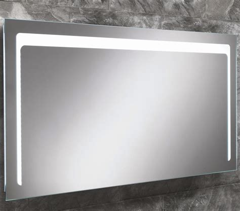 steam free bathroom mirrors hib christa steam free led back lit mirror 1200x600mm