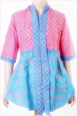 Baju Batik Pendek Wanita 47 model baju batik kombinasi 2 motif bolero sifon polos brokat trend 2018 model baju