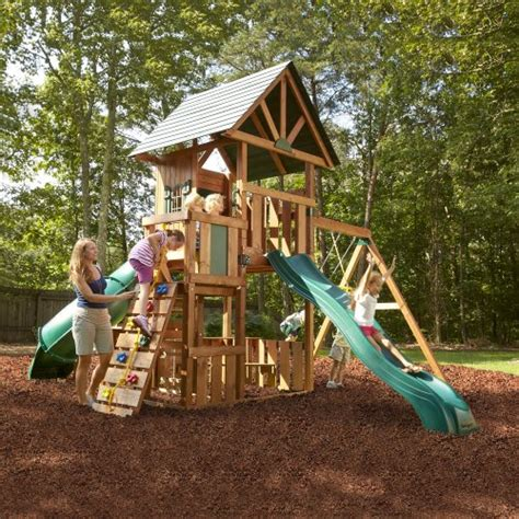 complete swing sets wood swing set kit outdoor custom complete kids wooden