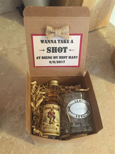 best man gifts asking your groomsmen best man to be a part of your big