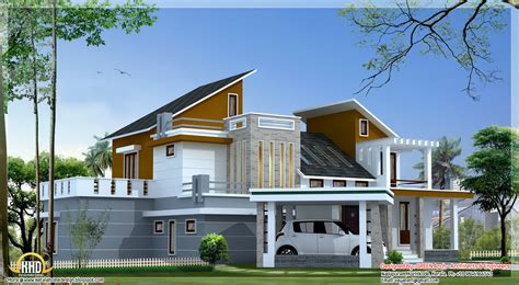 home designer architectural 4 bedroom contemporary villa elevation 2500 sq ft