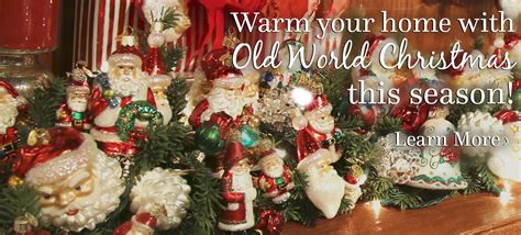 glass ornaments from old world christmas