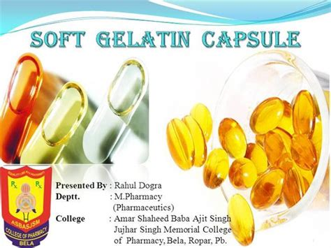 softgel capsules manufacturing science and technology books soft gelatin capsule authorstream