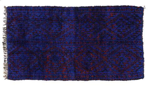 cobalt blue rug vintage moroccan rug by beni ourain in cobalt blue at 1stdibs