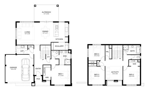 double story floor plans 15m wide house designs perth single and double storey
