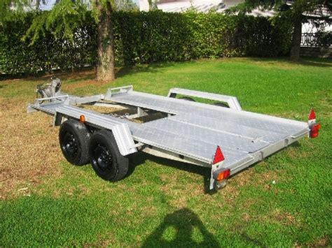 vendo carrello porta auto vendo carrello ellebi 2 assi per trasporto auto da rally