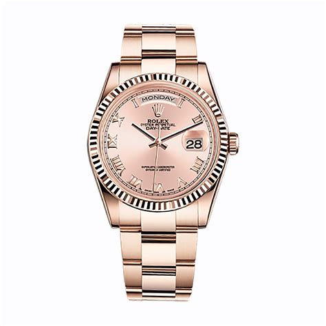Rolex Ls20 Rosegold rolex day date 36 118235 gold pink world s best