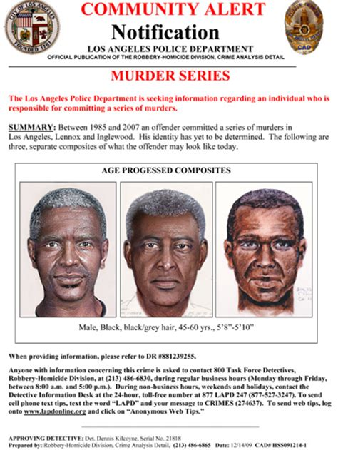 Lapd Grim Sleeper Pictures by Lapd Releases Aged Composite Sketches Of Quot Grim Sleeper