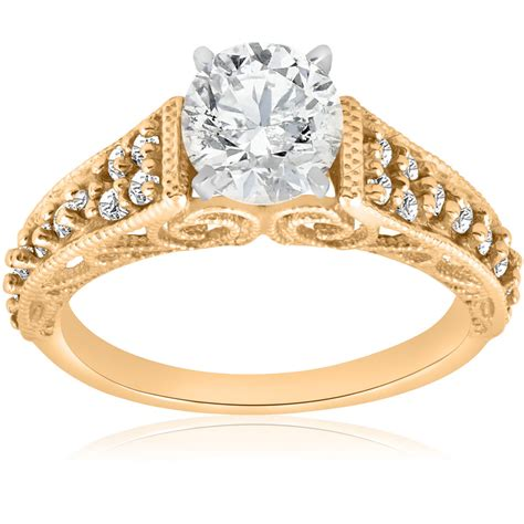 5 8ct vintage engagement ring 14k yellow gold