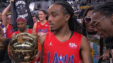 nba all star celeb game quavo takes home the nba celebrity all star game mvp