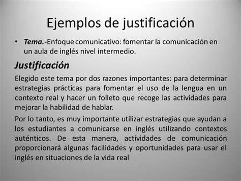 Ejemplos De Justificacion | ejemplos de una justificacion ejemplos de una