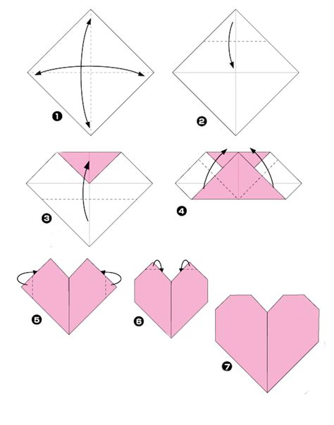 Simple Origami Hearts - my origami a true story layout pattern paper