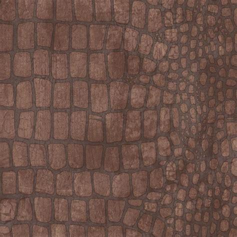 Crocodile Print Wallpaper Large Print Two Tone Brown Aligator Crocodile Skin