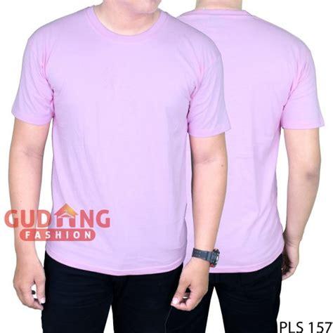 Kaos Polos Pendek Pink kaos o neck pendek pria cotton cardet pink baby pls 157