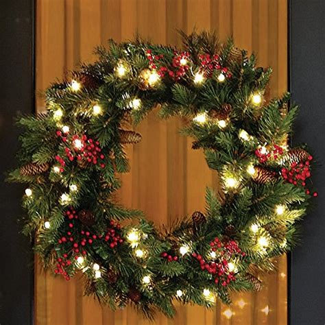 best battery operated christmas wreaths pre lit with