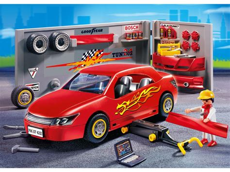 Playmobil Tuning Auto by Playmobil Voiture Avec Atelier Tuning