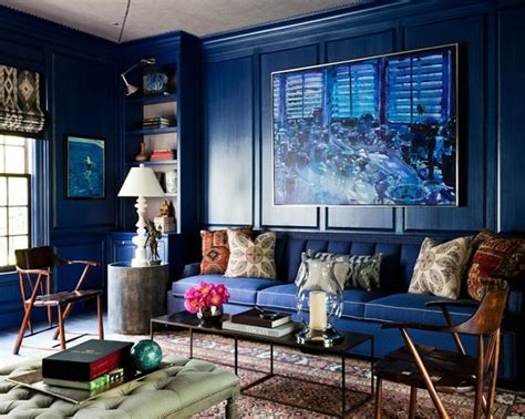 navy blue room accents interiors b a s blog enamoured with navy interiors the english room