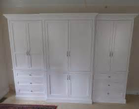 Custom Armoire Cabinet Custom Made Built In Wardrobe Armoire By J S Woodworking