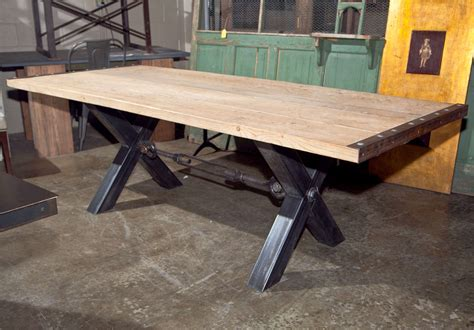 Industrial Style Dining Room Tables Industrial Style Steel Base Dining Table At 1stdibs