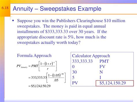 Sweepstakes Exles - ppt discounted cash flow valuation powerpoint presentation id 263782