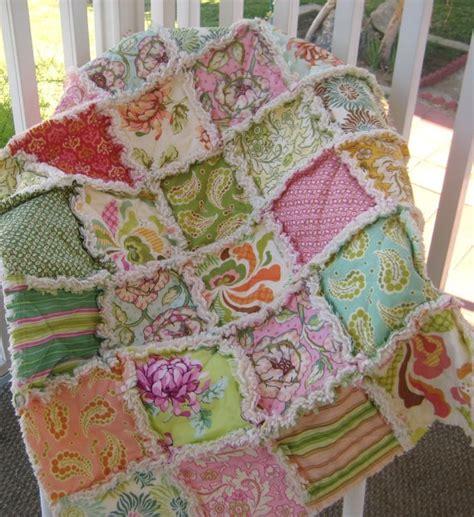 Crib Size Rag Quilt Pattern by Baby Rag Quilt Crib Size Shabby Modern Chintz By