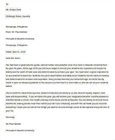 retirement letter sle 10 exles in word pdf