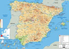 map with all cities and towns maps of spain detailed map of spain in tourist