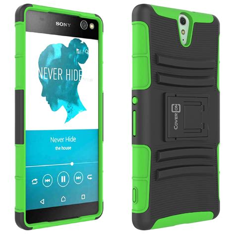 Xperia X Rugged Armor Soft Cover Casing Kickstand Xphase H 1 Holster Cover Rugged Tough Hybrid Kickstand For Sony