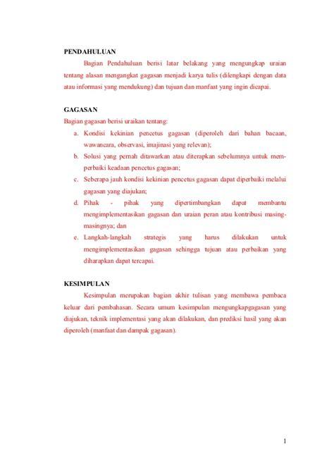 format pkm gt contoh format proposal pkm gt