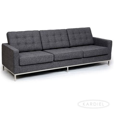 houndstooth sofa florence knoll style 3 seat sofa carbonite houndstooth