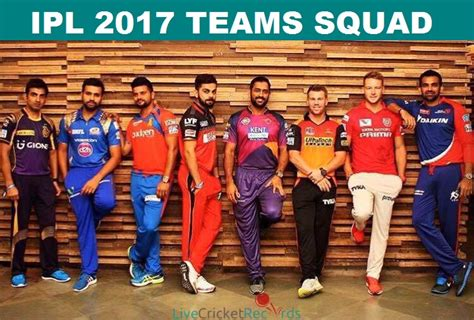 ipl teams 2017 ipl 2017 teams squad ipl 10 players list team wise