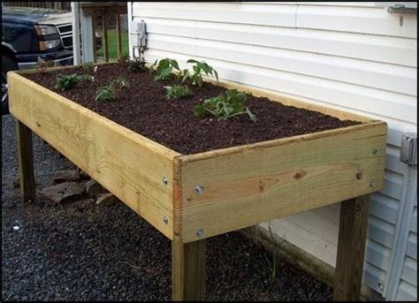Waist High Raised Garden Bed Plans by Vegetable Raised Garden Bed Diagram Vegetable Free