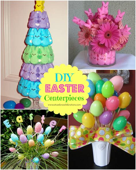 easter centerpieces to make diy easter centerpieces a to zebra celebrations