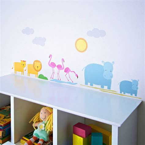 childrens wall stickers childrens safari wall stickers by kidscapes