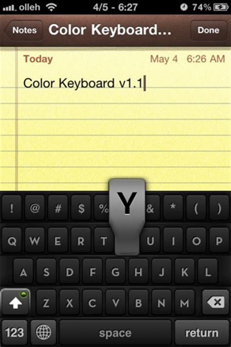 best keyboard themes on cydia applications cydia color keyboard iphone astuces